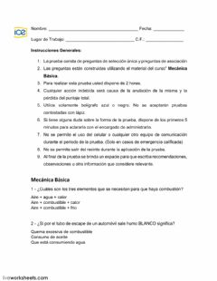 Interactive worksheet Mecanica básica
