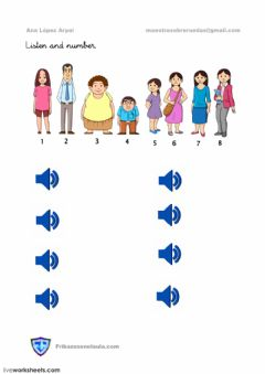 Interactive worksheet Clothes listen and number