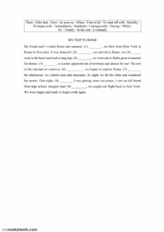 Interactive worksheet My trip to Rome 2