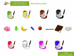 Interactive worksheet Los Colores