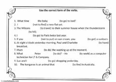 Interactive worksheet Tense revisions