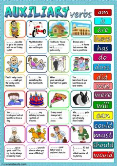 Auxiliary verbs worksheet preview