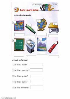 Interactive worksheet vocabularypractice