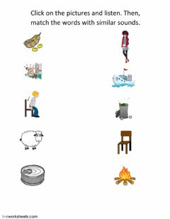 Interactive worksheet minimal pairs