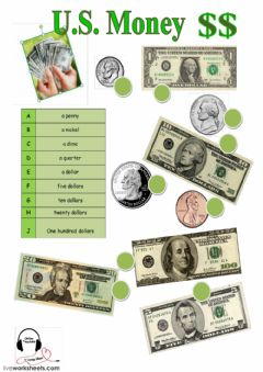 Interactive worksheet American Currency