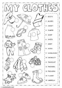 The clothes worksheet preview