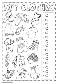 Interactive worksheet The clothes - Listening