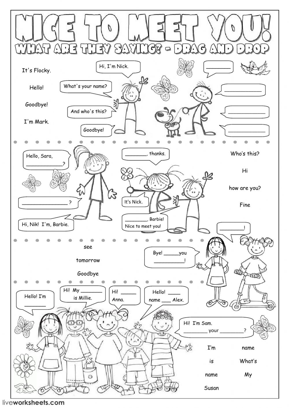 Nice to meet you! - Interactive worksheet