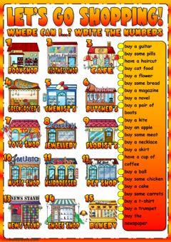 Interactive worksheet Let's go shopping!