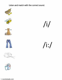 Interactive worksheet Match the pictures and sounds