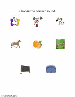 Interactive worksheet Choose the correct sound