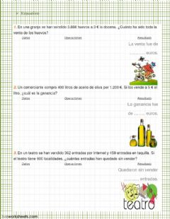 Interactive worksheet problemas