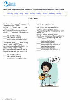 Interactive worksheet Listening with gerunds