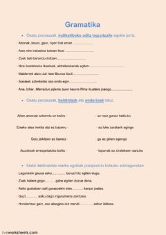 Interactive worksheet gramatika