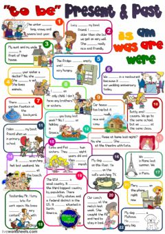 Interactive worksheet To Be - present and past