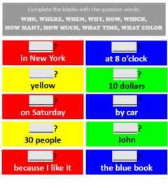 Interactive worksheet WH- WORDS