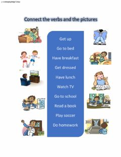 Interactive worksheet Daily routine