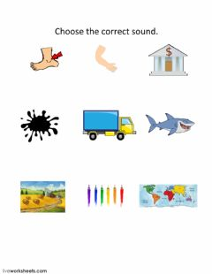 Interactive worksheet Choose the correct sound ɑ:-æ-ʌ