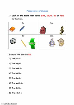 Interactive worksheet Writing