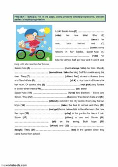 Interactive worksheet Present tenses (3)