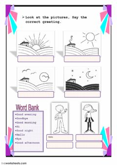 Interactive worksheet Greetings