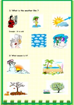 Interactive worksheet Weather - seasons