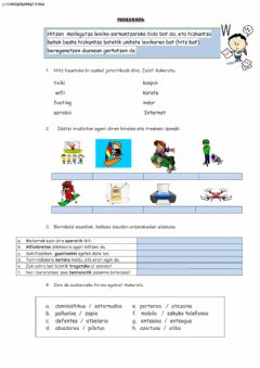 Interactive worksheet Maileguak