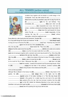 Interactive worksheet All Tenses (1)