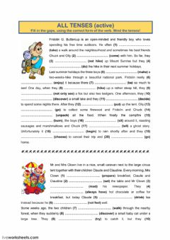 Interactive worksheet All tenses (6)