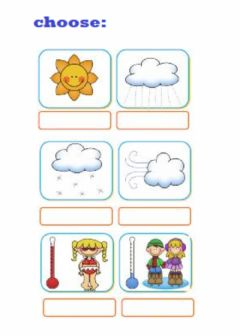 What´s the weather like? worksheet preview