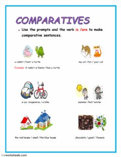 Ficha interactiva comparatives