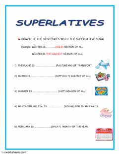 Ficha interactiva Superlatives