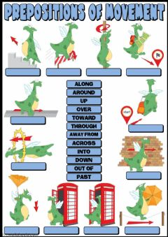 Ficha interactiva Prepositions of movement