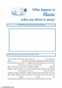 Interactive worksheet Plastic bottles - Listening