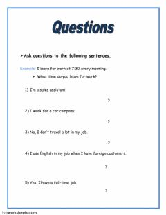 asking questions interactive worksheets. Black Bedroom Furniture Sets. Home Design Ideas