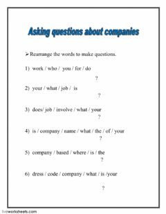 Interactive worksheet Questions