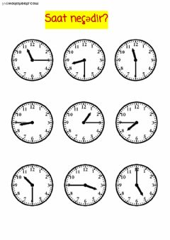 Interactive worksheet Write the correct time activity