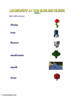 Interactive worksheet Minecraft Episode 1 LW1