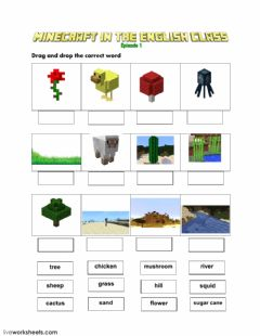 Interactive worksheet Minecraft Episode 1 LW2