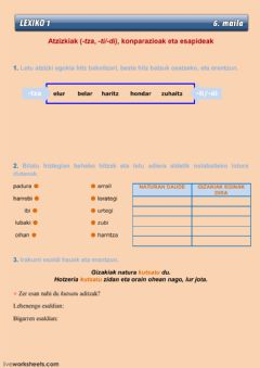Interactive worksheet LEXIKO 1