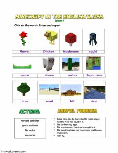 Interactive worksheet Minecraft Episode 1 LW3