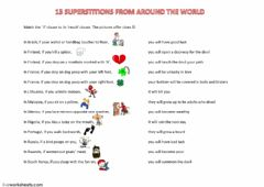 Interactive worksheet Superstitions - 1st Conditional