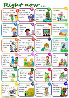 Interactive worksheet Right now... - Preset Continuous