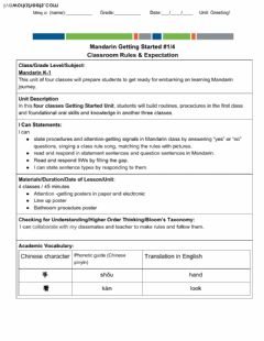 Interactive worksheet 2-3 Mandarin Get started! 1