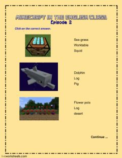 Interactive worksheet Minecraft Episode 2 LW 2