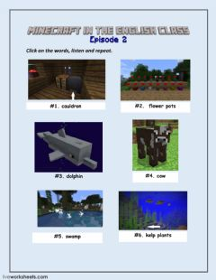 Interactive worksheet Minecraft Episode 2 LW1
