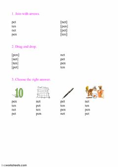 Interactive worksheet Reading Step 1