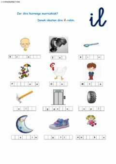 Interactive worksheet Ortografia -il