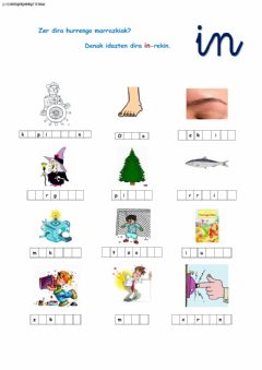 Interactive worksheet Ortografia -in