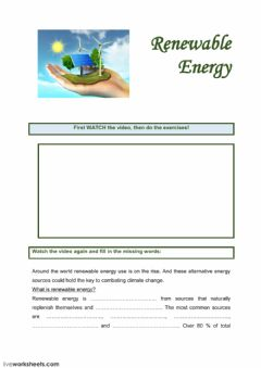 Interactive worksheet Renewable Energy
